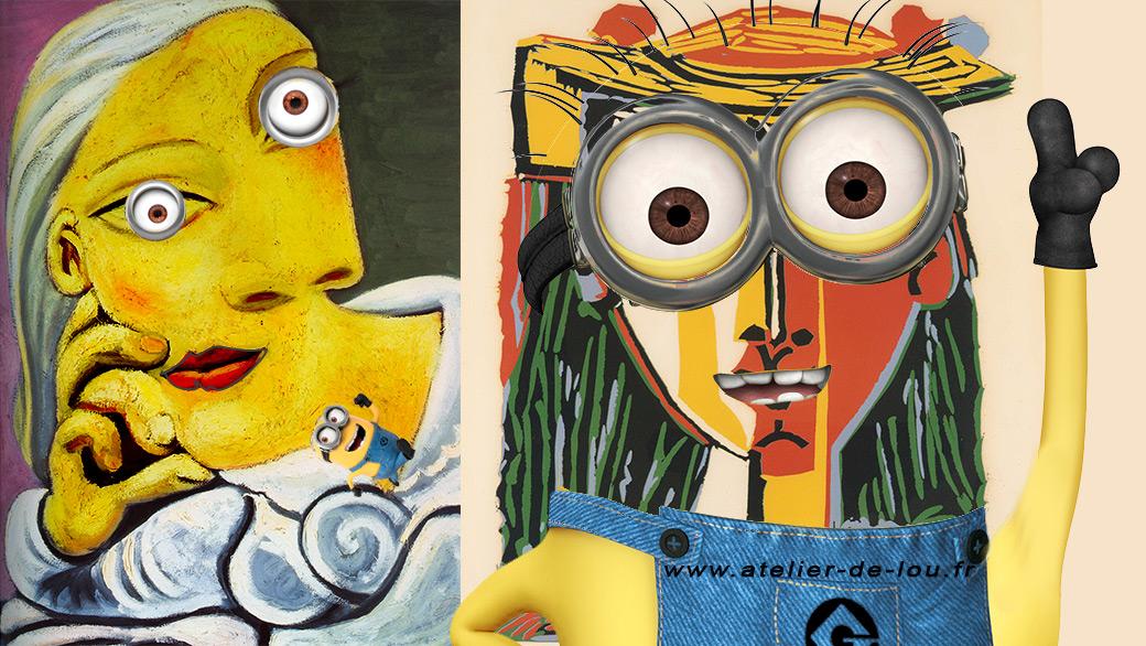 Picasso et les minions se retrouvent pour peindre ensemble