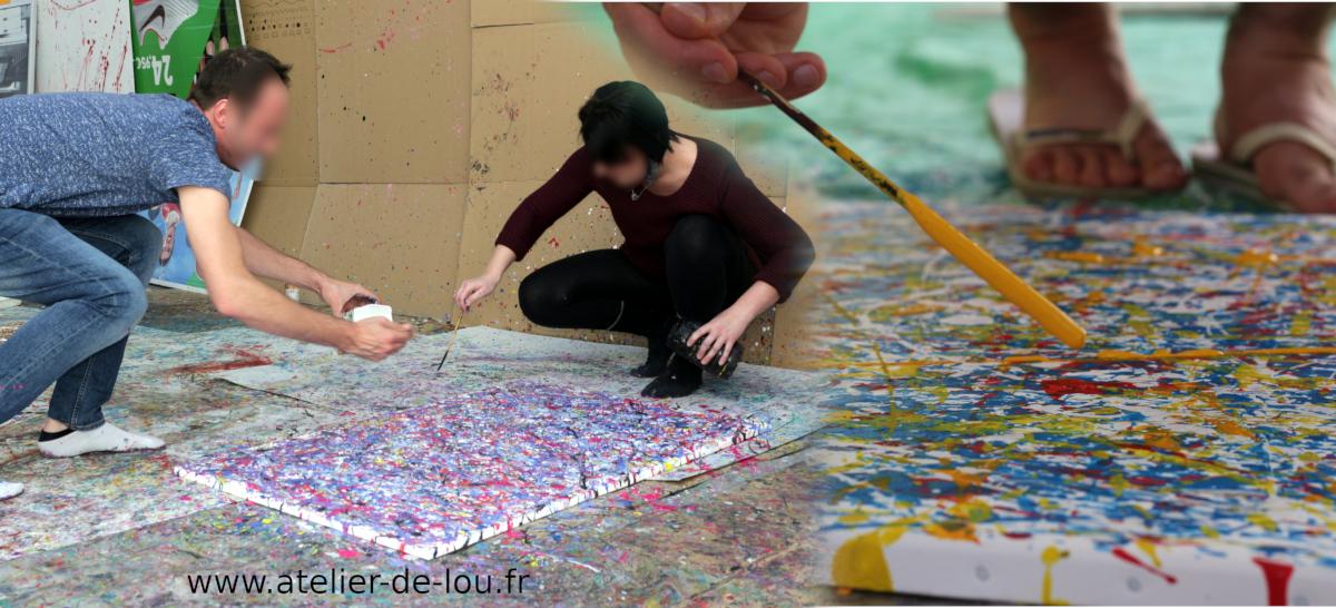 activité peinture et cohésion d'équipe